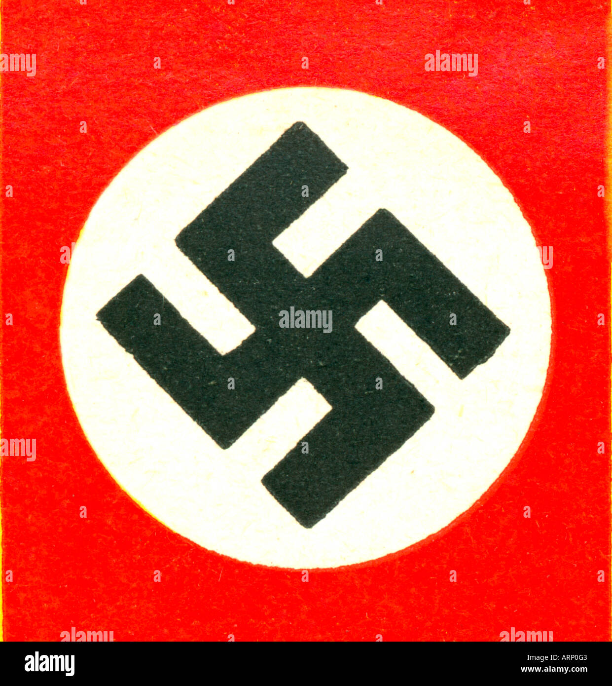 Swastika The Symbol Of The Nazi Party In Germany Stock Photo