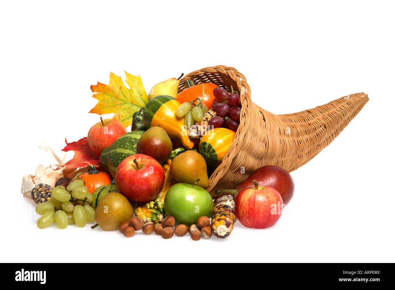 Fall Season Cornucopia - Stock Image