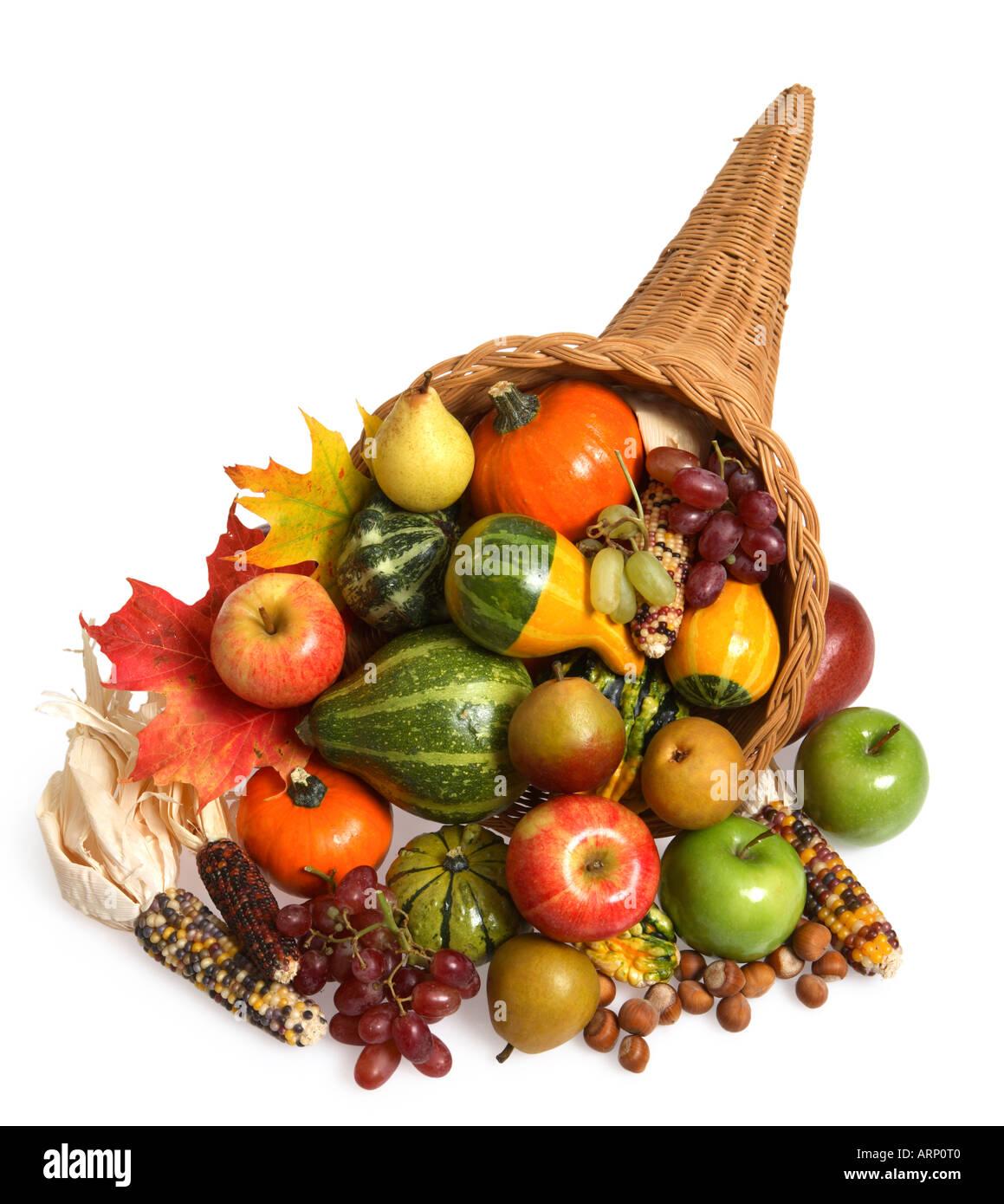 Thanksgiving Cornucopia - Stock Image