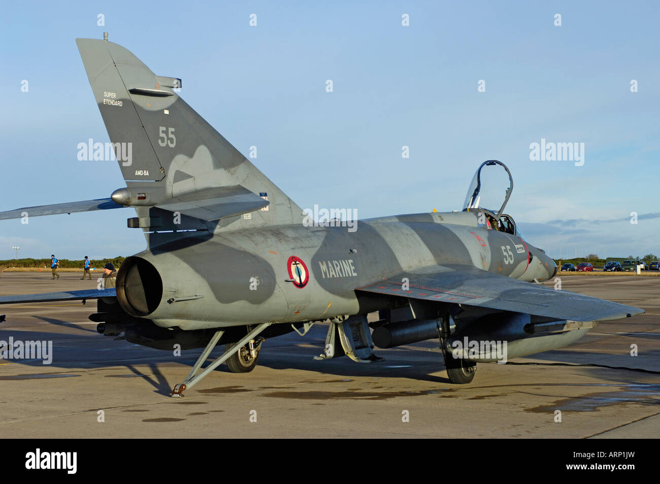 French Super Etendard Military Fighter Jet Aircraft Stock Photo