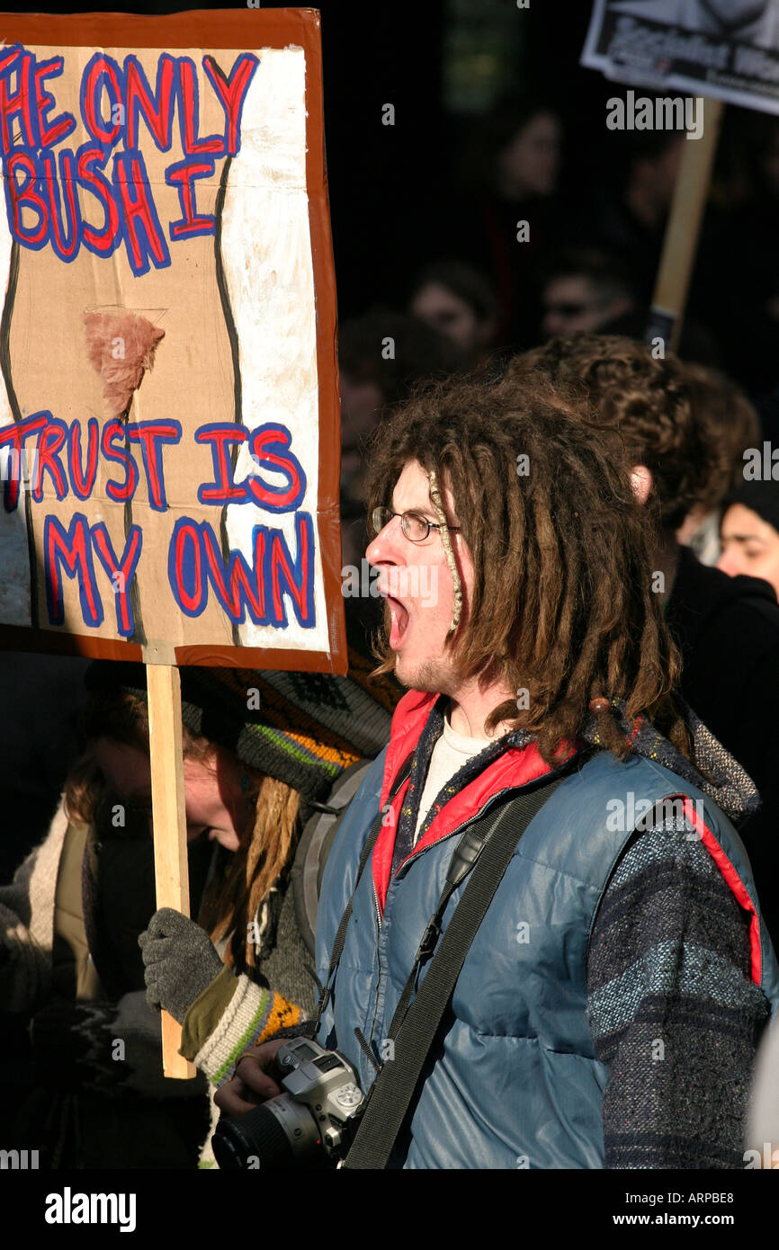 Protest Against George W Bush Ottawa Canada 2004 11 30 The Only Bush