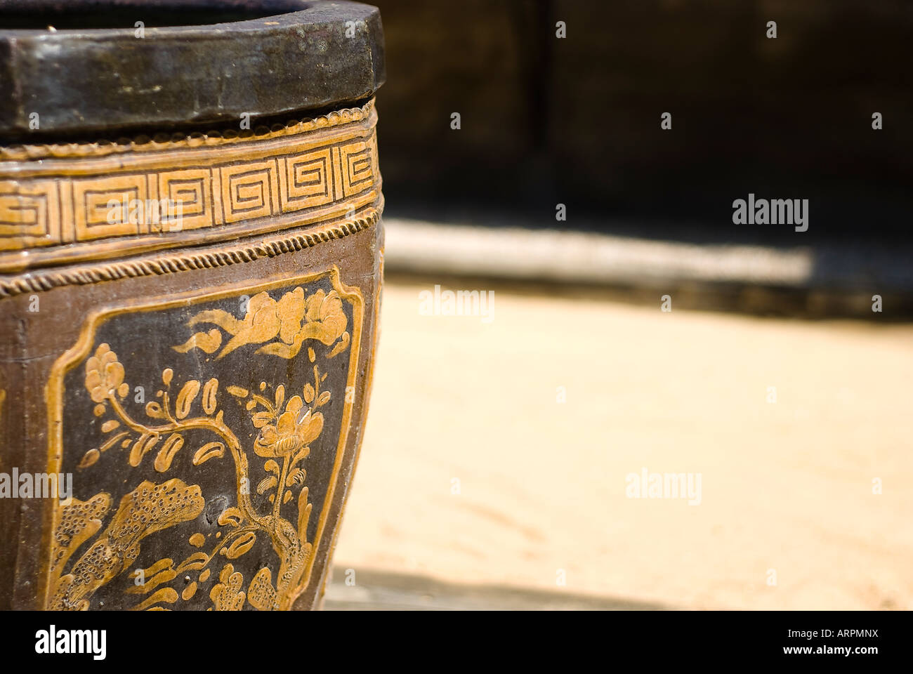 Ancient greek vase detail - Stock Image