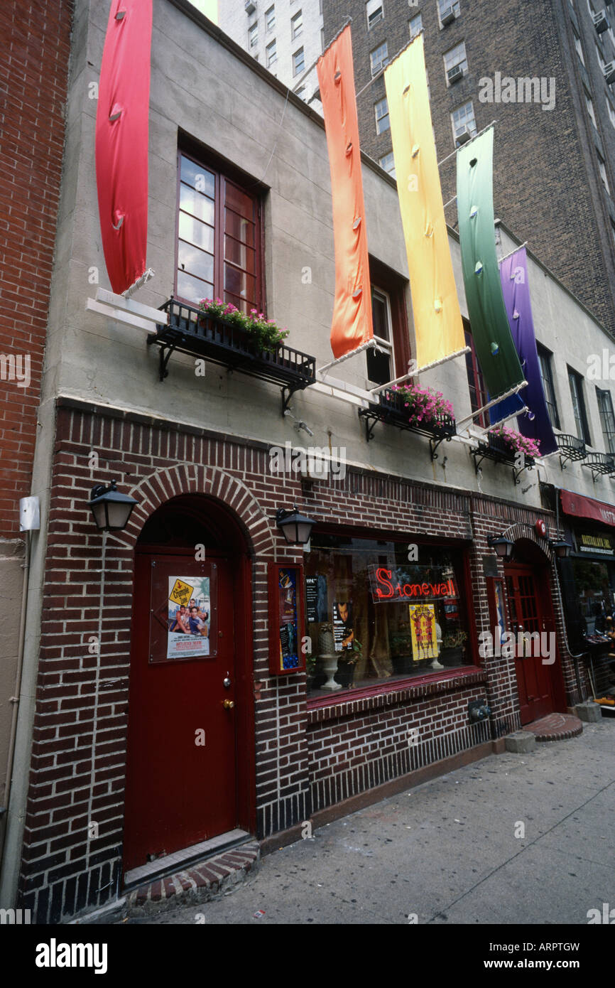 New York USA Manhattan Stonewall Inn Greenwich Village - Stock Image