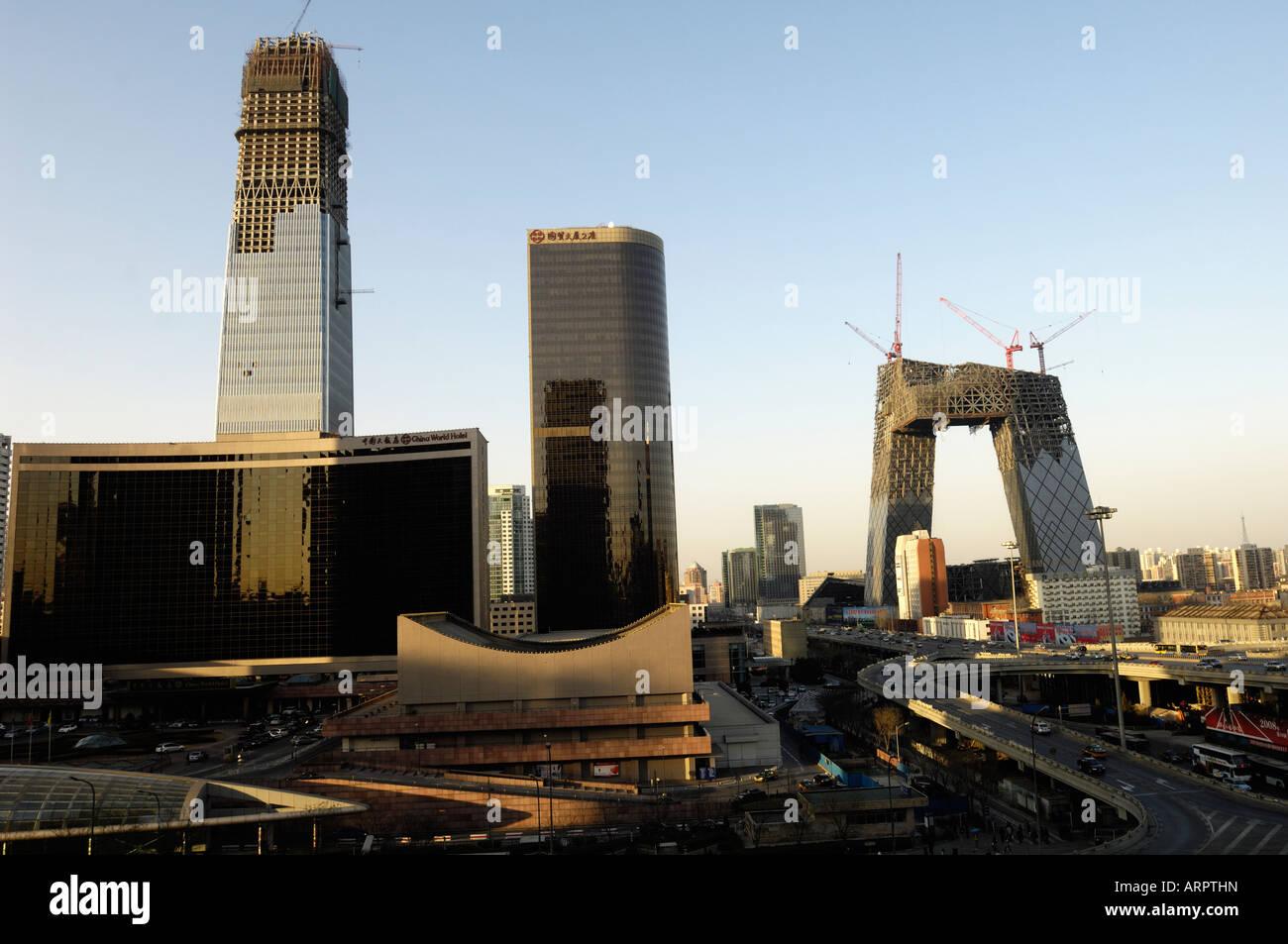 Beijing CBD. 16-Feb-2008 - Stock Image