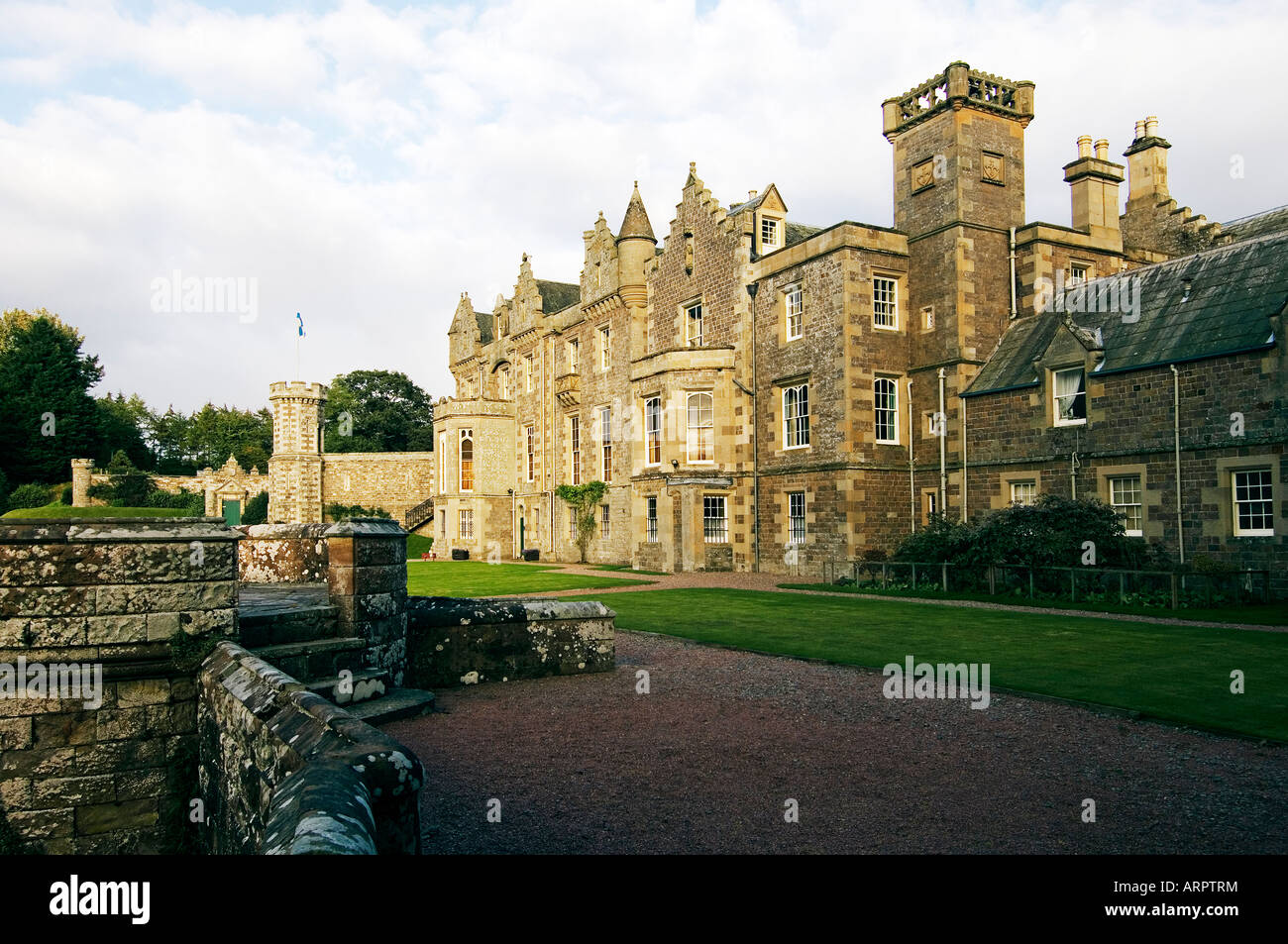 Abbotsford House, Victorian novelist Sir Walter Scott's home near Galashiels in the Borders region, Scotland - Stock Image