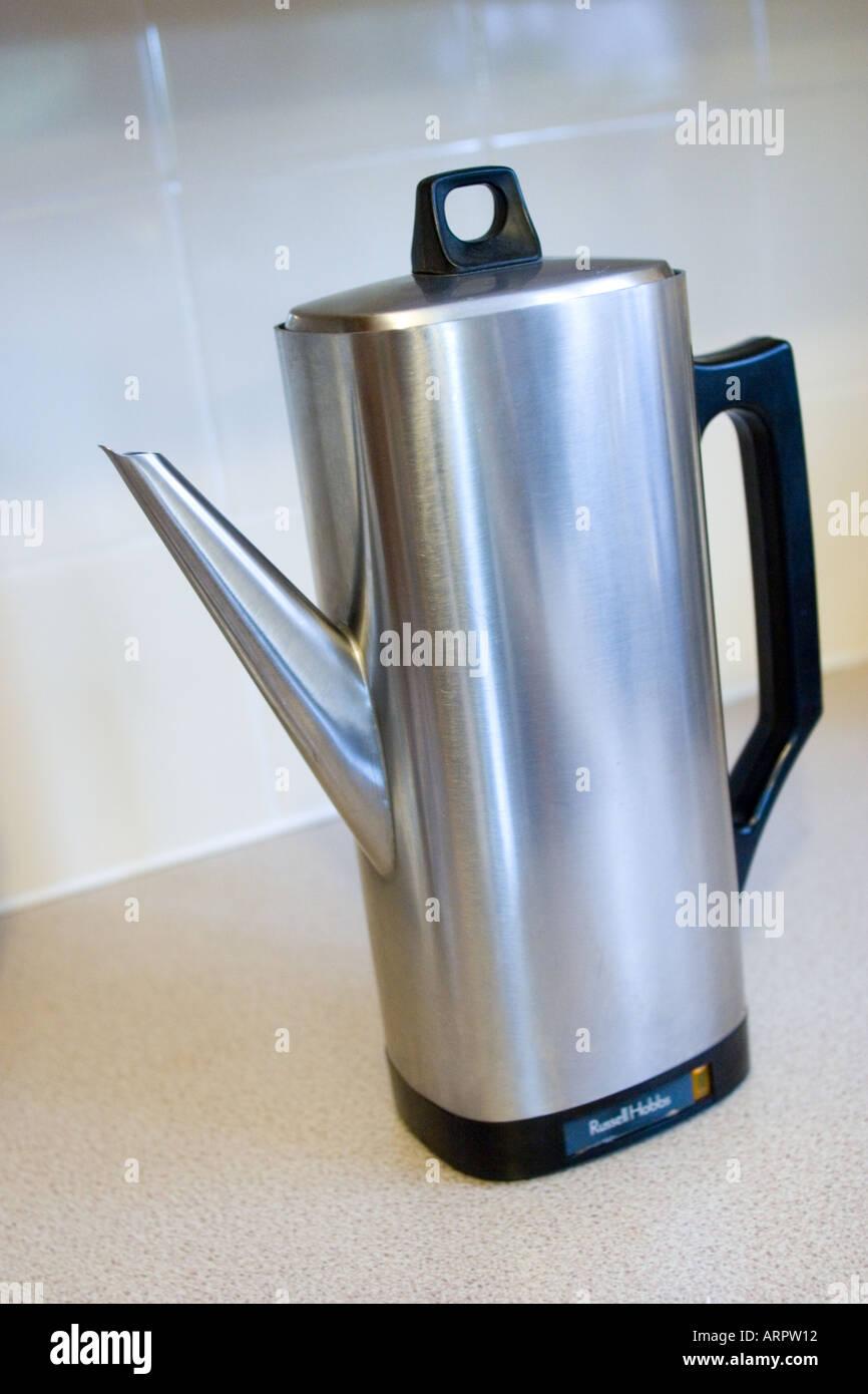 Russell Hobbs electric coffee percolator - Stock Image