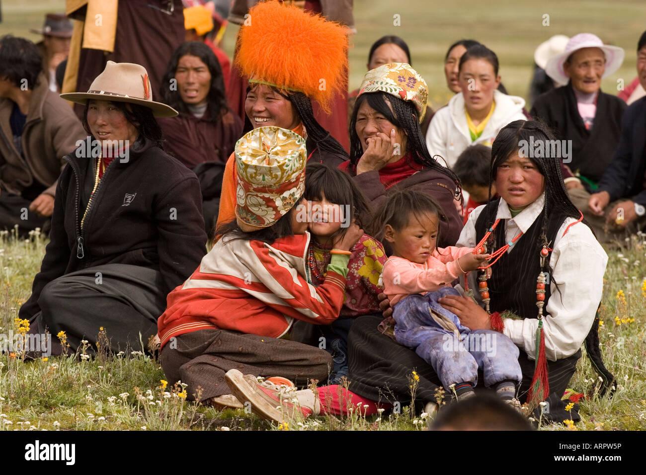 Litang Horse festival, Sichuan, Tibetan Plateau, China - Stock Image