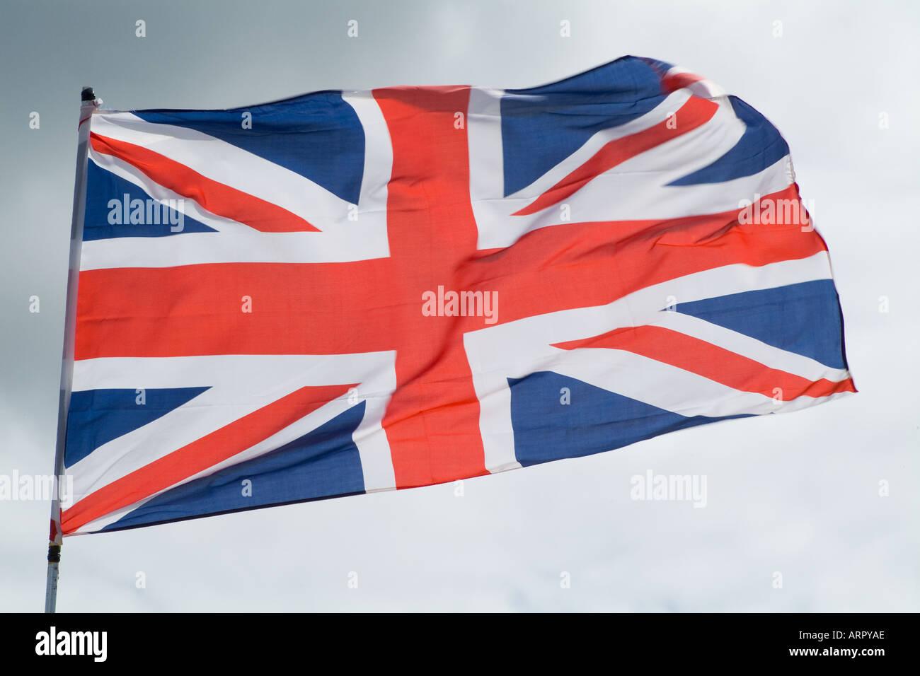 dh Union Jack FLAG UK Union Jack standard British flag uk britain united kingdom flags bhz - Stock Image