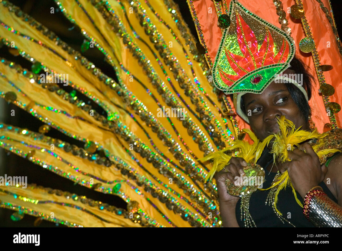 Grand Carnival Costume Splash - Notting Hill Carnival Costume Preview at Alexandra Palace - Stock Image
