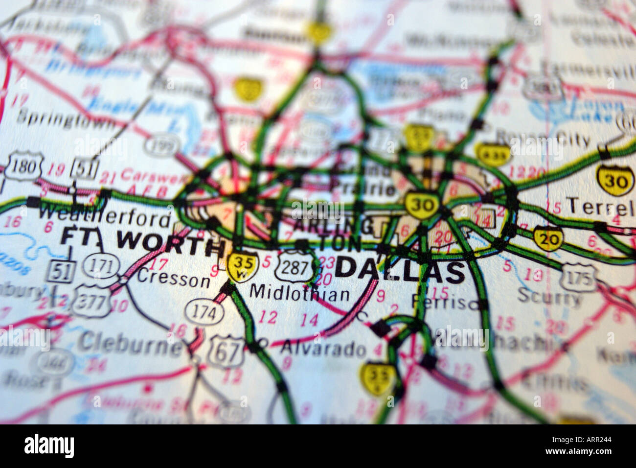 Dallas On A Map Of Texas.Close Up Map Of Dallas Texas Stock Photo 2994755 Alamy