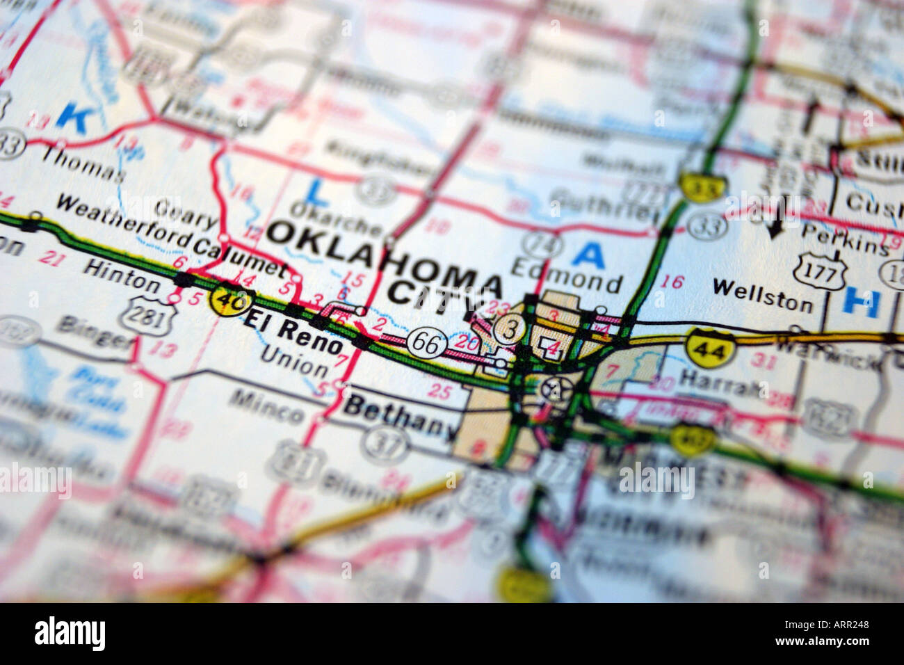 Close up map of oklahoma city stock photo 2994759 alamy close up map of oklahoma city gumiabroncs Image collections