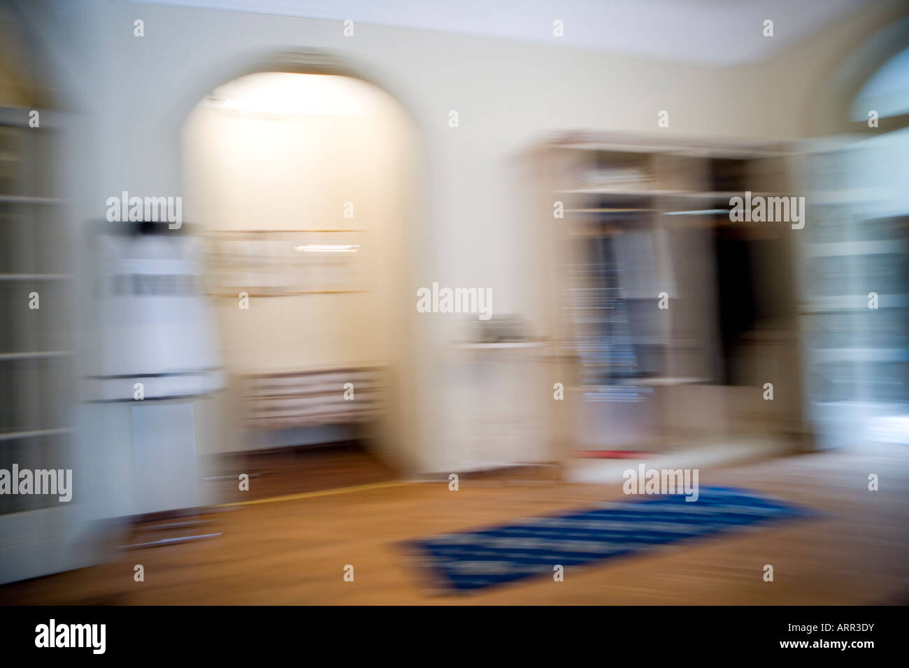 interior in a blurry context - Stock Image