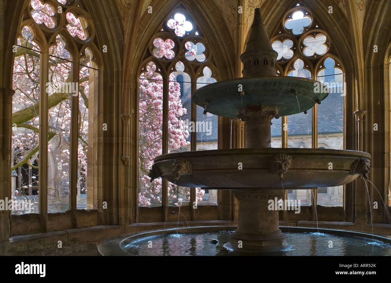 Fountain in the cistercian abbey of Maulbronn Stock Photo