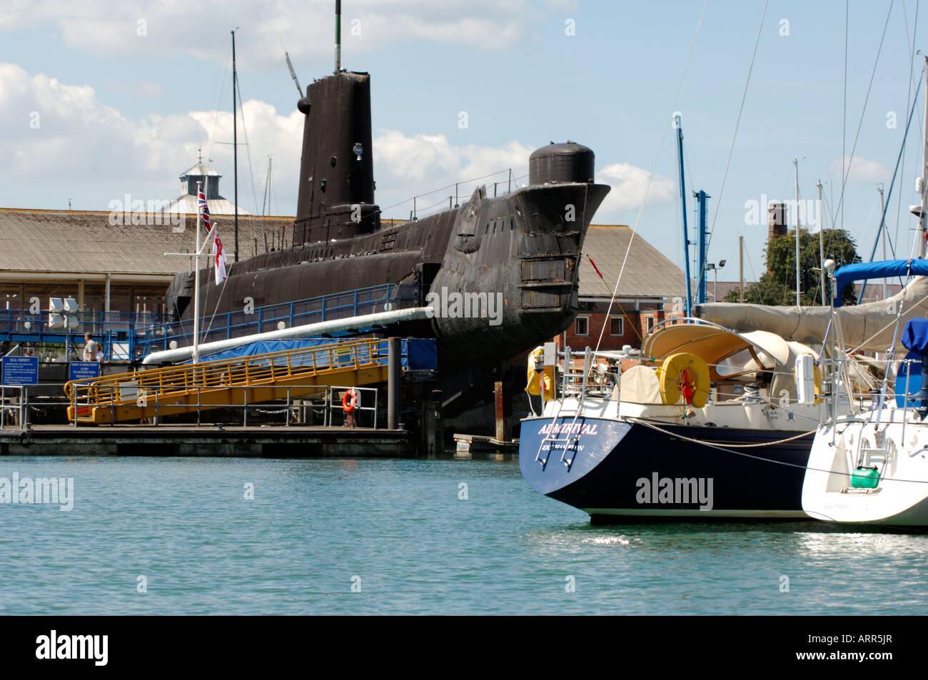 hms alliance the submarine at the royal nay sumariners museum at haslar creek hms dolphin gosport hampshire portsmouth - Stock Image
