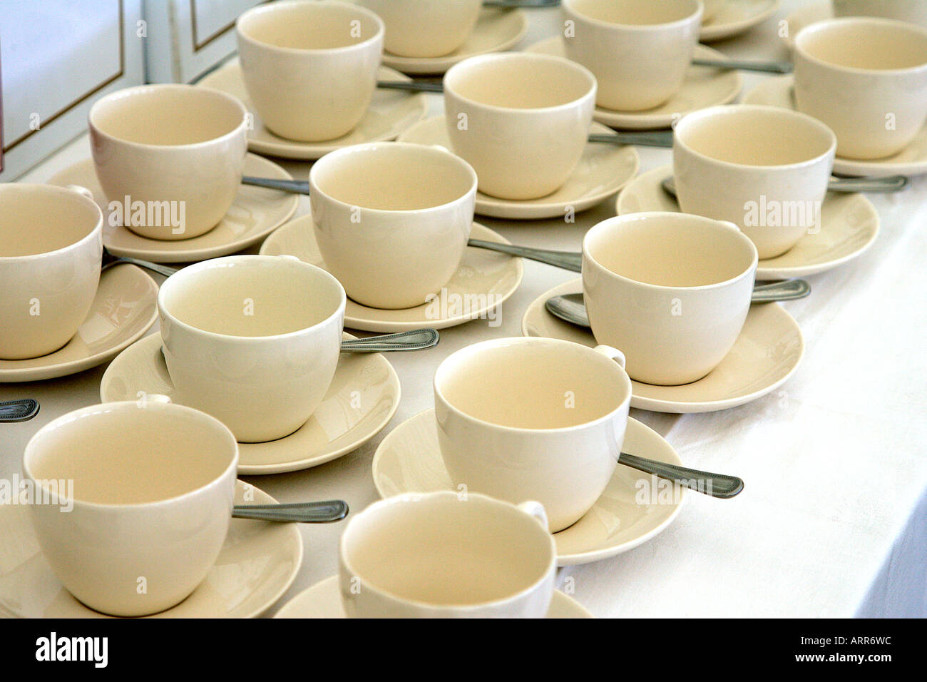 Crockery Traditional Design Tea Time Catering Porcelain China Ceramic Stock Photo Alamy
