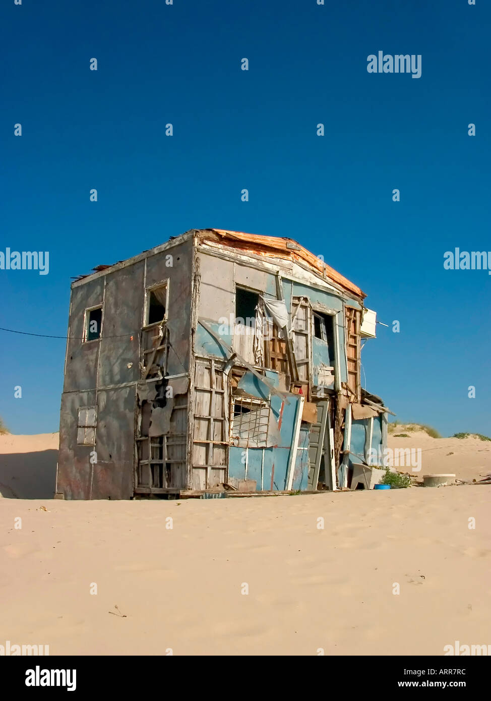 old house construction architecture - Stock Image