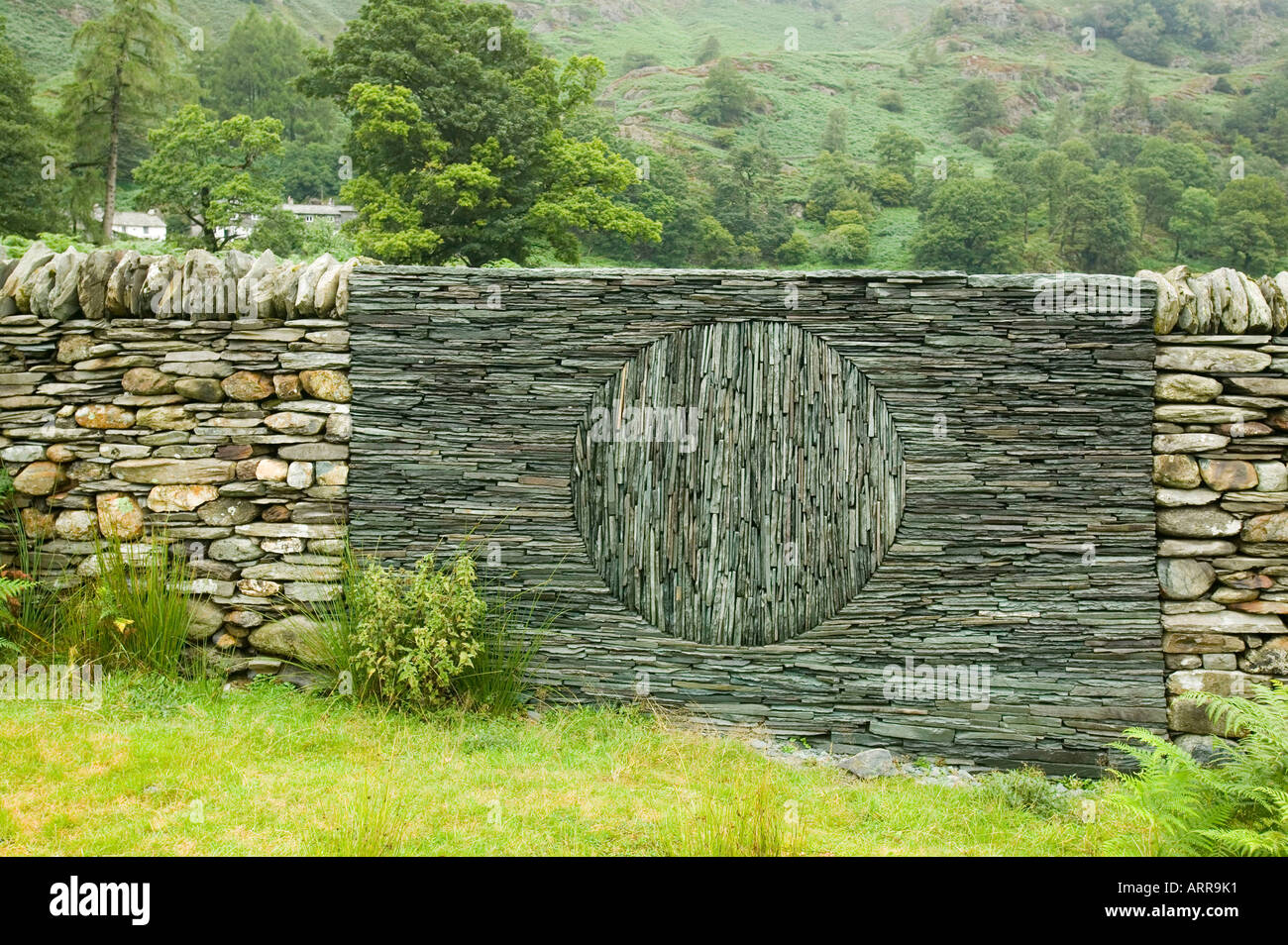 an Andy goldsworthy artworksculpture in a sheep fold at Stock