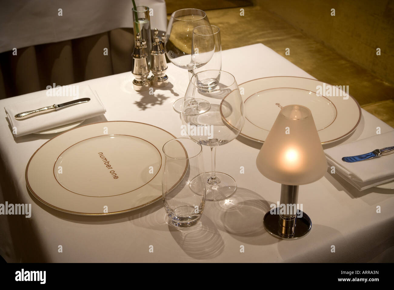 Number One Restaurant at The Balmoral Hotel Edinburgh Scotland Stock Photo