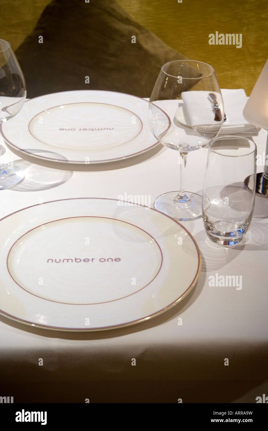 Number One Restaurant at The Balmoral Hotel Edinburgh Scotland Stock Photo