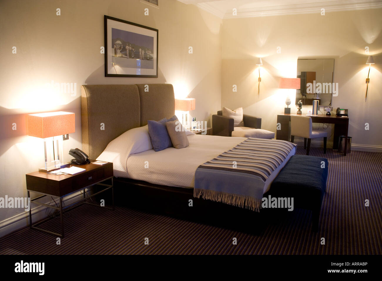 Guest Room The Balmoral Hotel Edinburgh Scotland Stock Photo