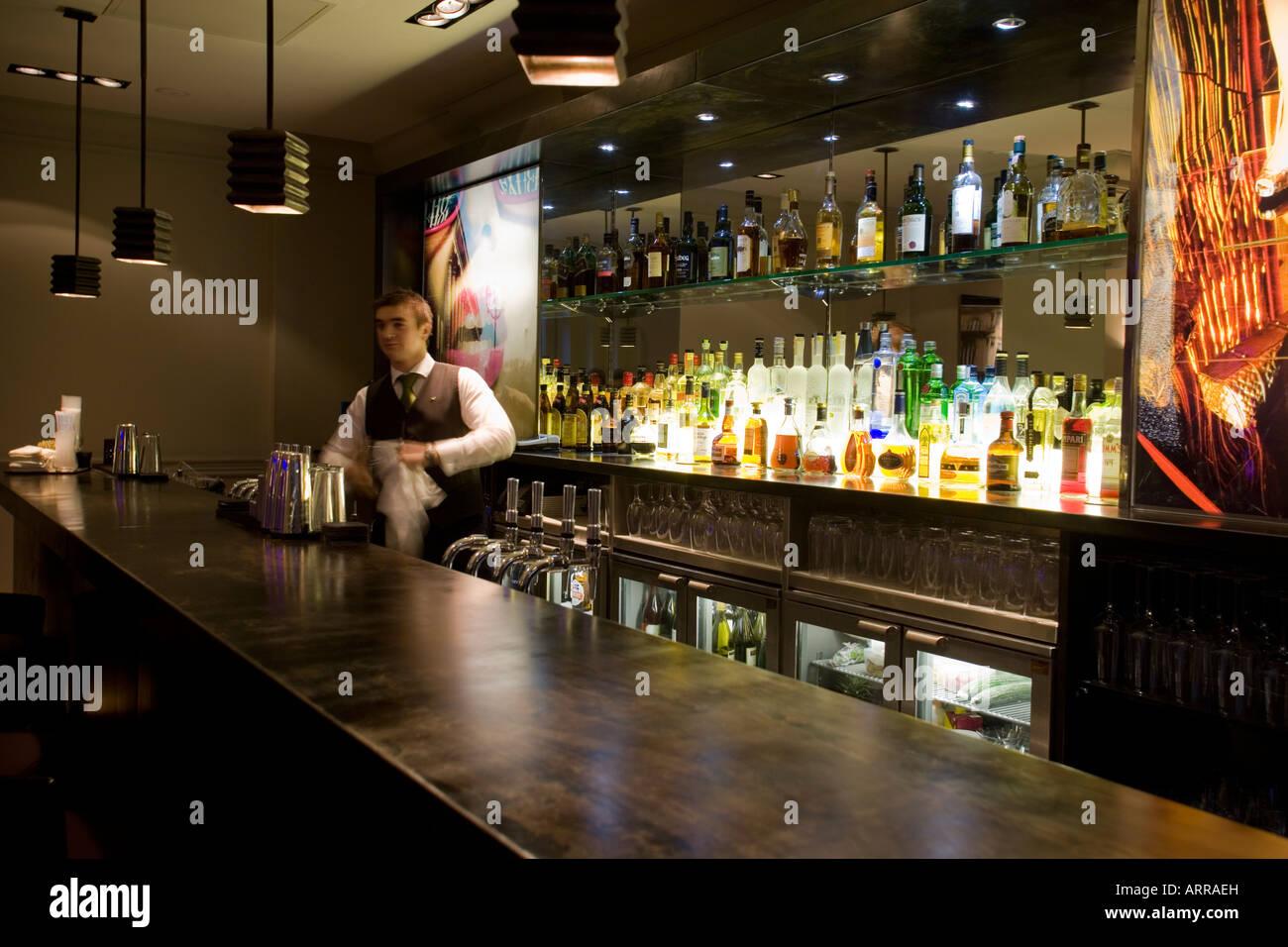 Bar Interior The Balmoral Hotel Edinburgh Scotland Stock Photo