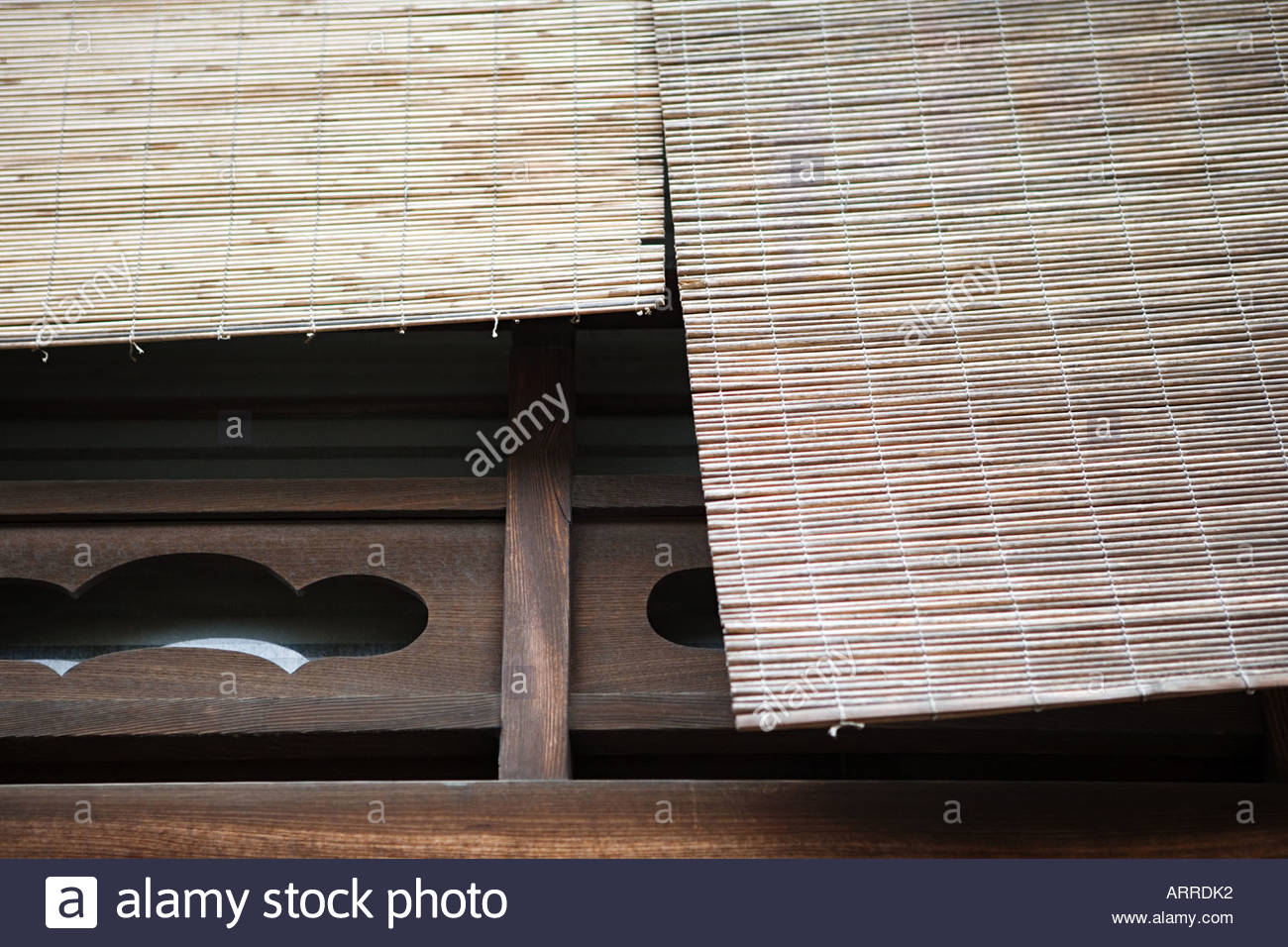 Wooden blinds - Stock Image