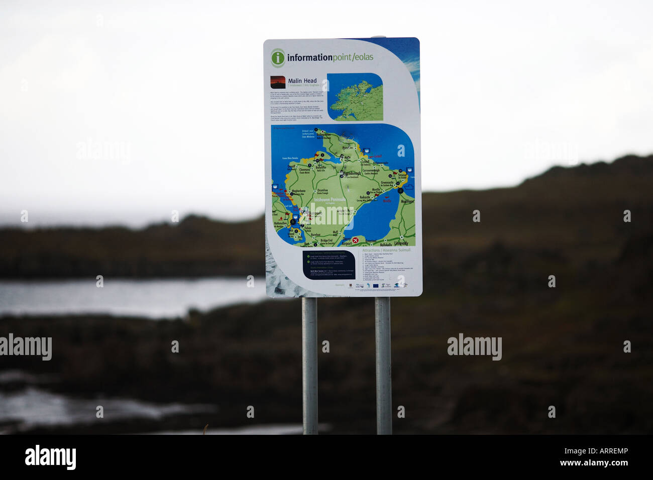 Map Of Republic Of Ireland Showing Counties.Inishowen Peninsula Map Post County Donegal Republic Of Ireland