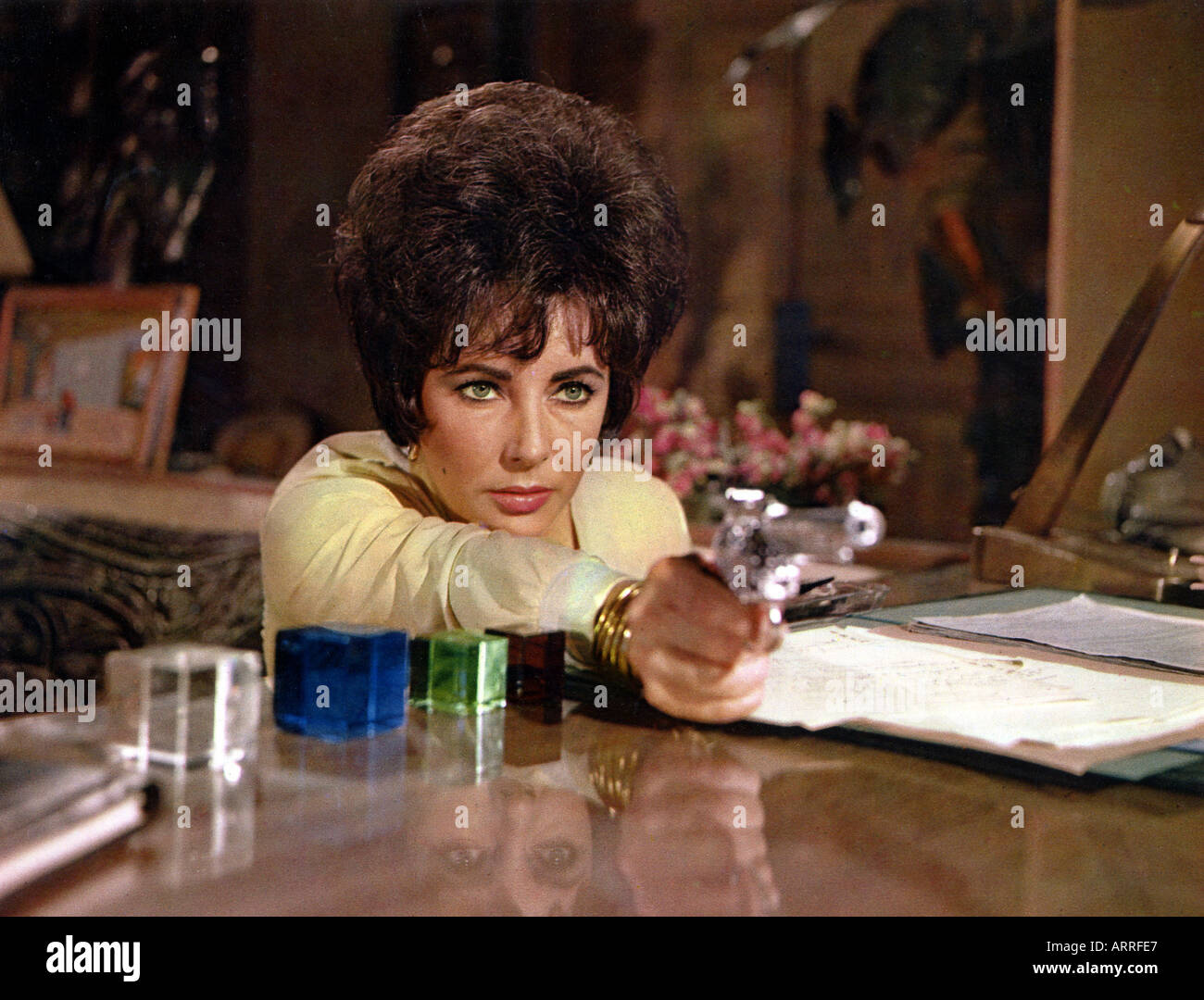 THE COMEDIANS 1967 film with Elizabeth Taylor - Stock Image