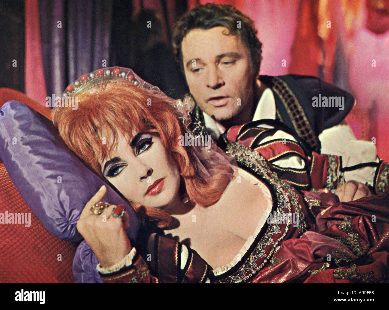 DR FAUSTUS 1967 film of the Marlowe play with Elizabeth Taylor as Helen of Troy and Richard Burton as Faustus - Stock Image