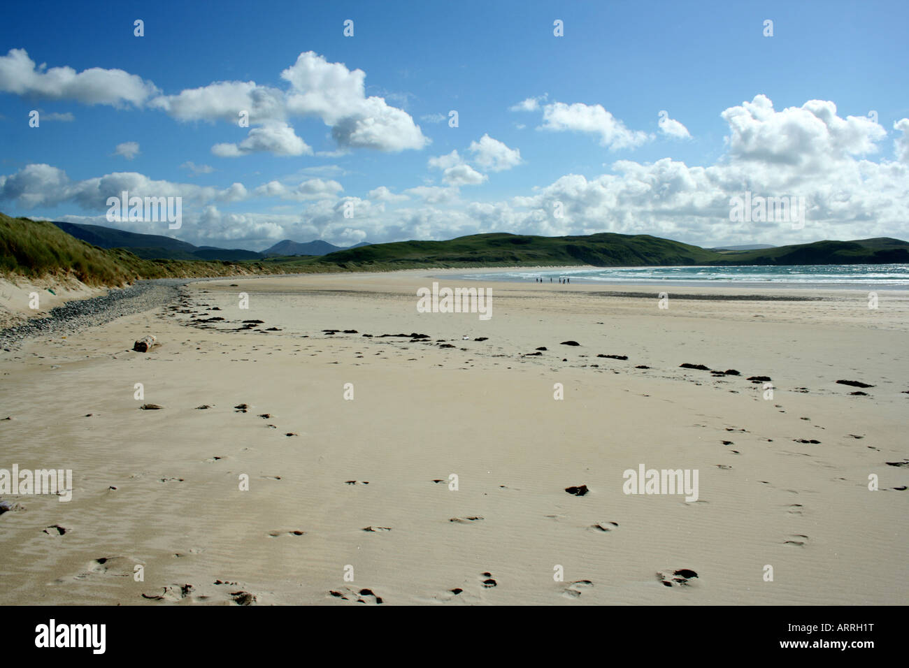Tramore beach, west of Dunfanaghy, the Atlantic Donegal, Ireland - Stock Image