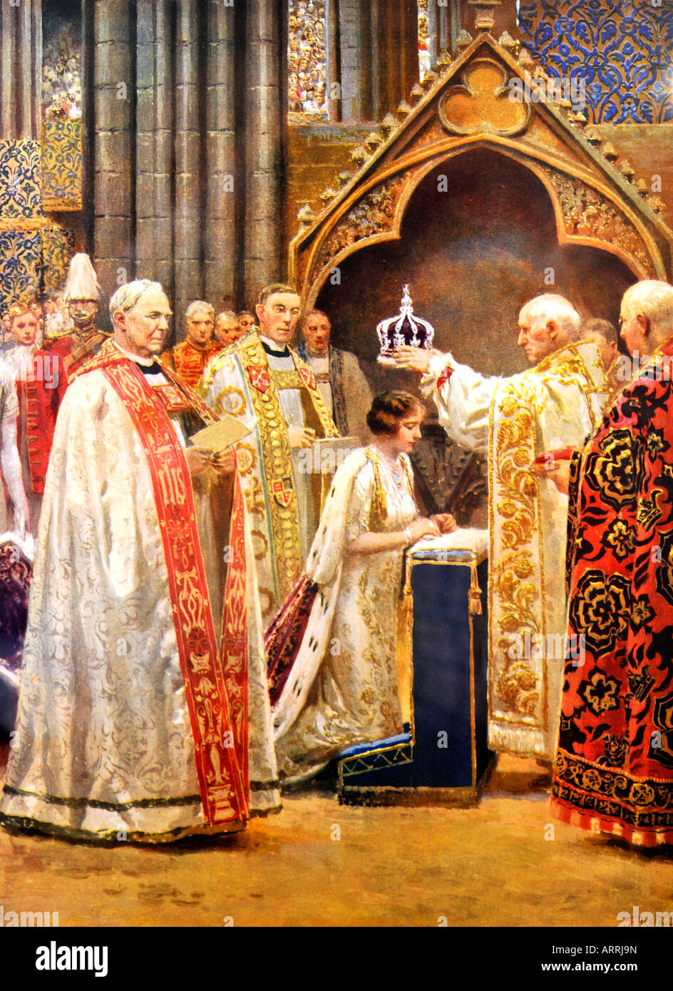 The Crowning of the Queen Consort 12 May 1937 HRH the Queen Mother Illustrated London News May 1937 FOR EDITORIAL - Stock Image
