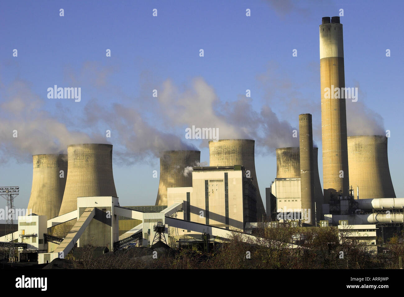 A coal burning power station at Ratcliffe On Soar, Nottinghamshire. - Stock Image
