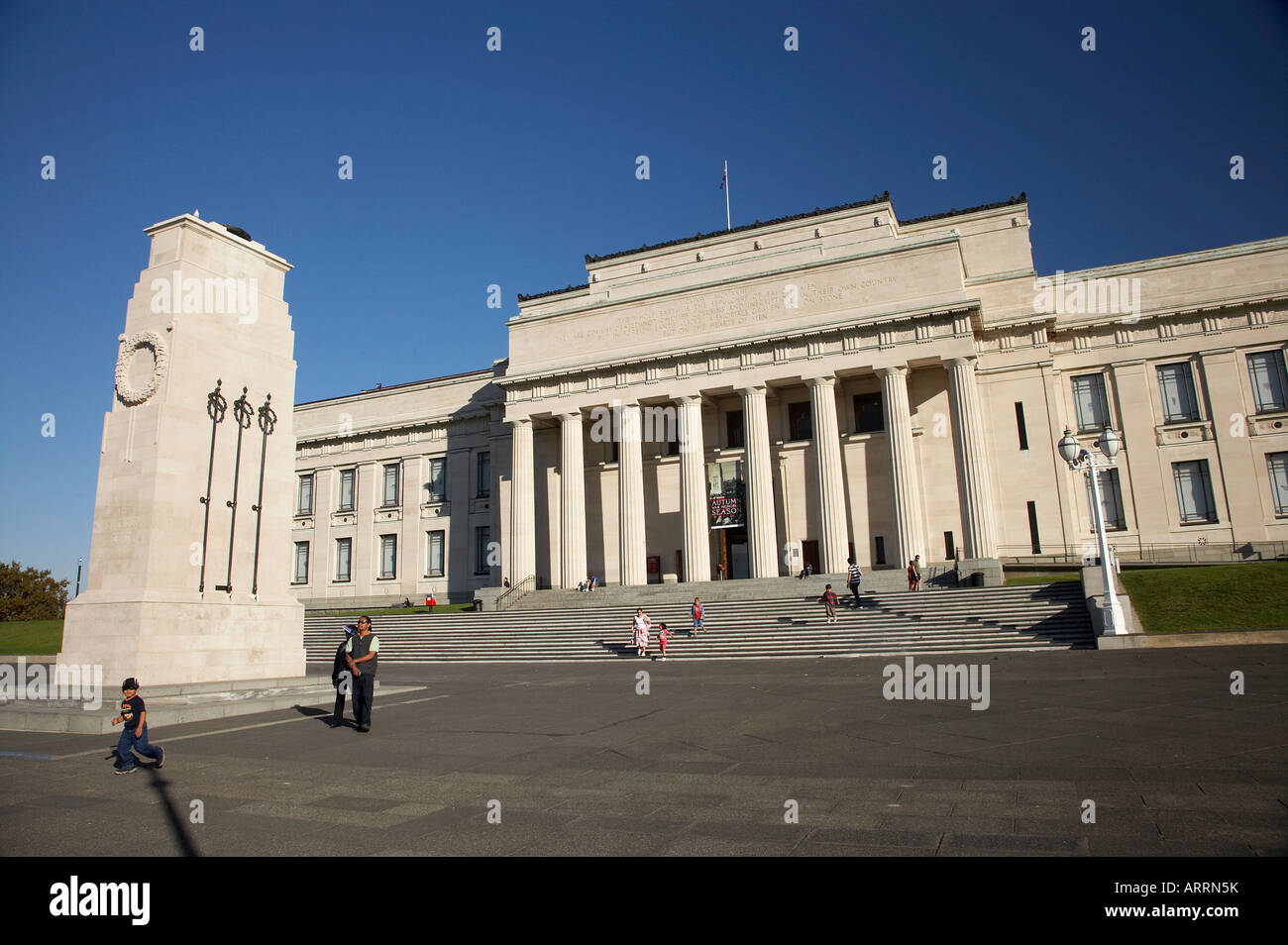 Auckland Museum Auckland Domain Auckland North Island New Zealand - Stock Image