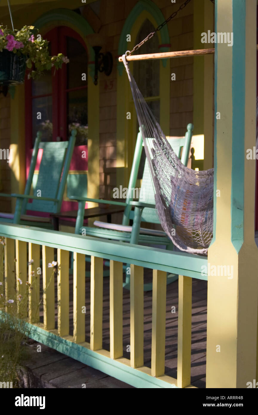 Magnificent Porch Detail Of Rocking Chairs Of Colorful Marthas Vineyard Caraccident5 Cool Chair Designs And Ideas Caraccident5Info