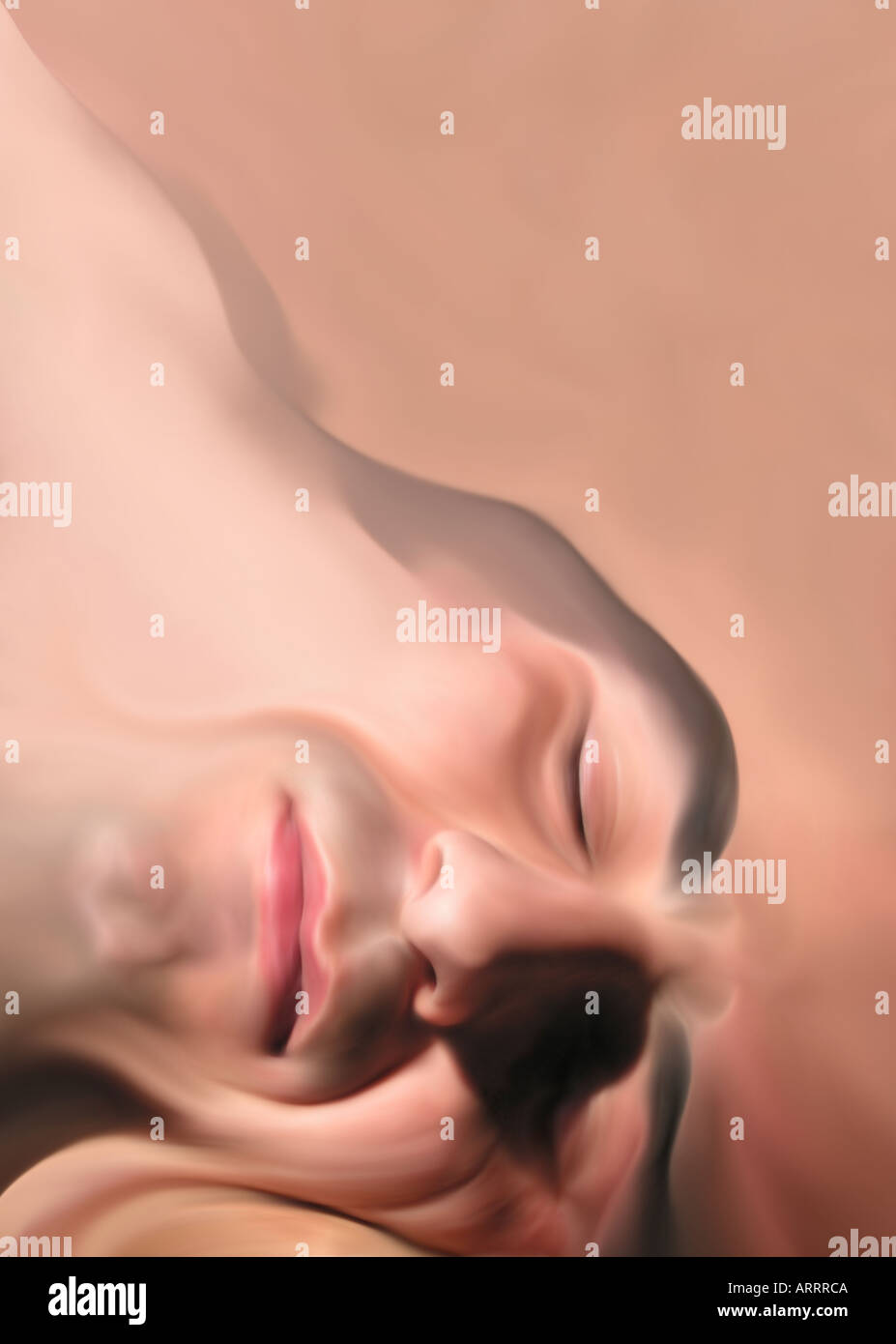 Sleeper portrait cover book poster - Stock Image