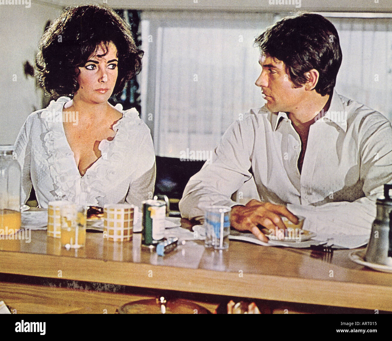 THE ONLY GAME IN TOWN 1969 film with Elizabeth Taylor and Warren Beatty - Stock Image
