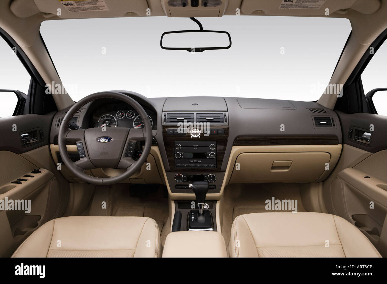 2008 ford fusion sel in green dashboard center console gear shifter view