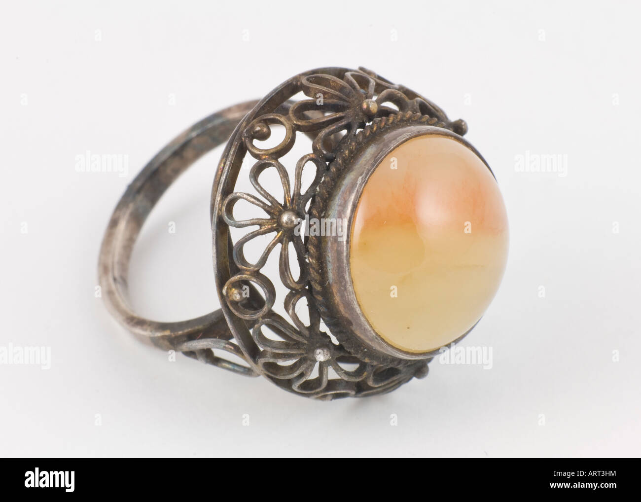 antique ring tarnished old jewelry - Stock Image