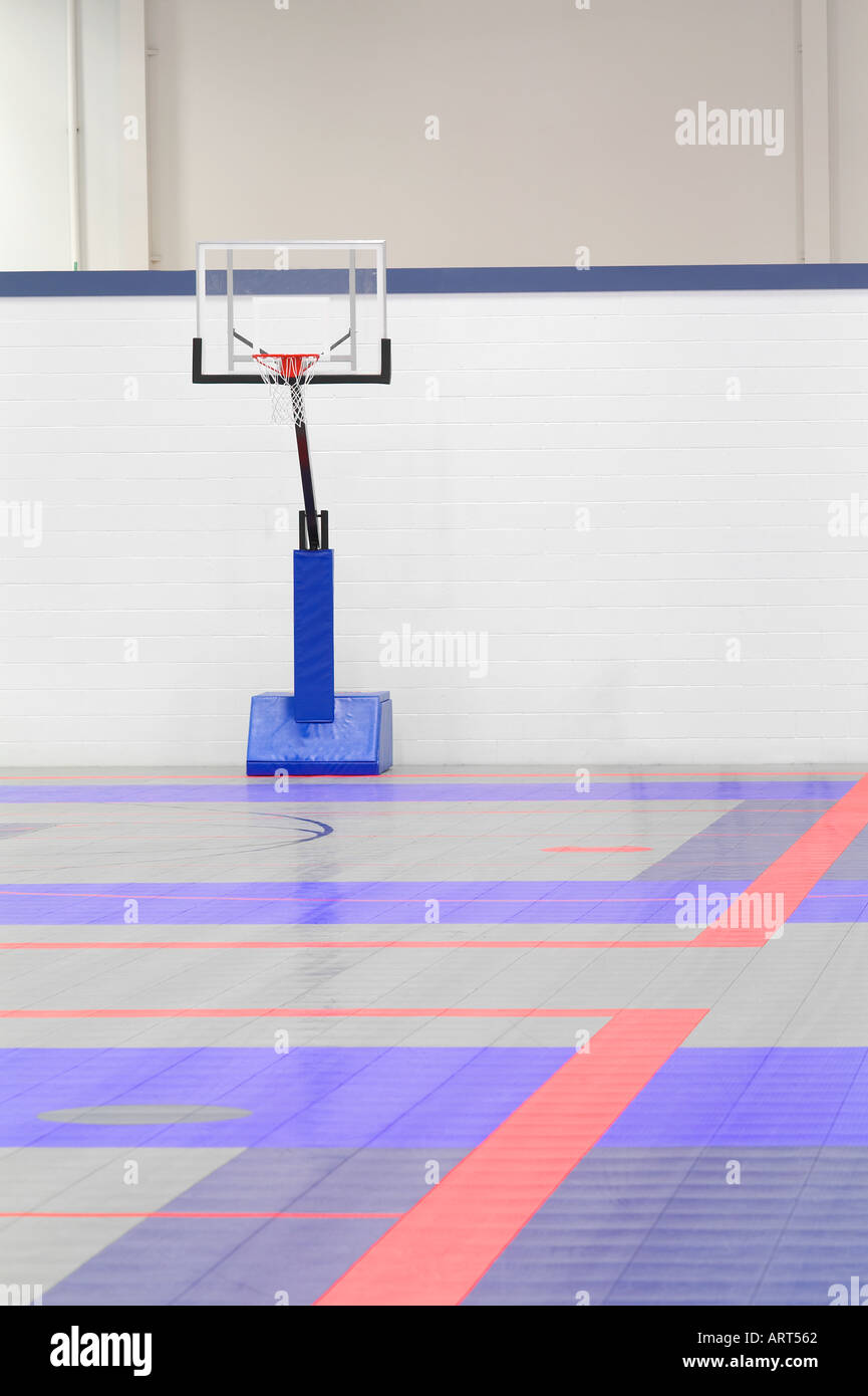 Basketball Court Inside Indoor Eugene Oregon Stock Photo Alamy
