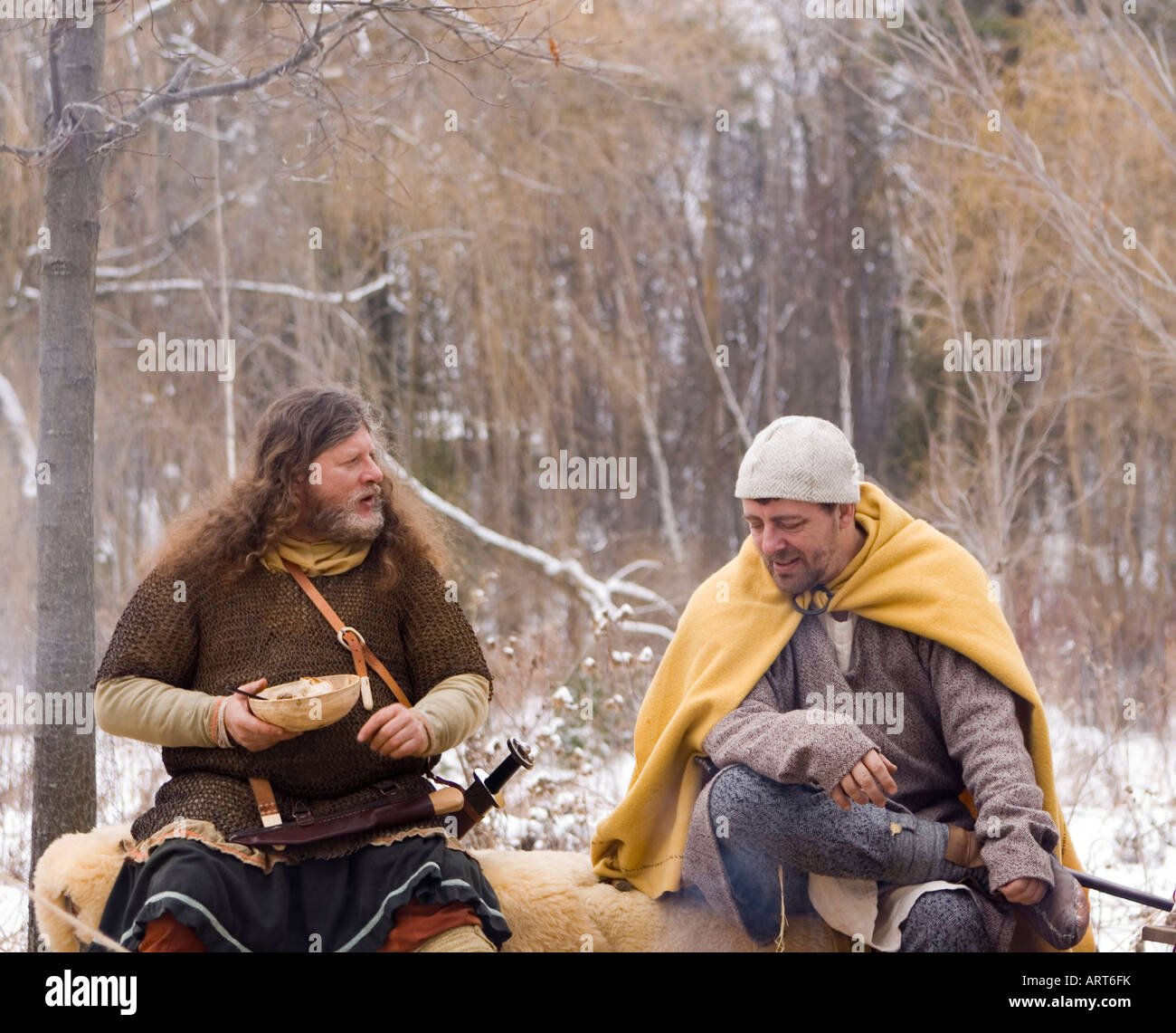 Living History Encampment in Richmond Hill Canada - Stock Image