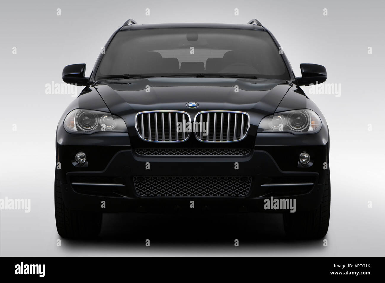 2008 BMW X5 4.8i in Black - Low/Wide Front - Stock Image