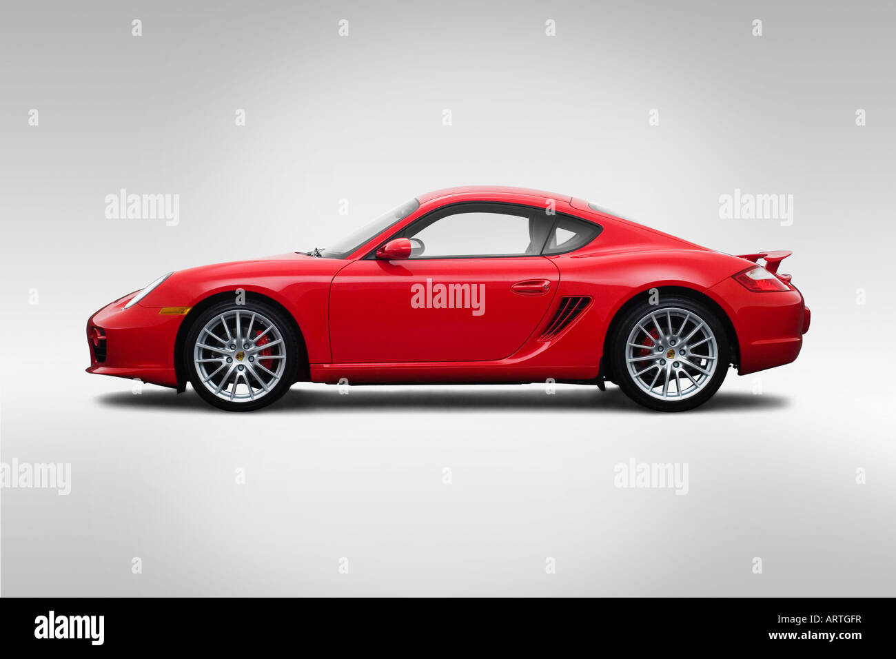 Porsche Cayman S Red Stock Photos Porsche Cayman S Red