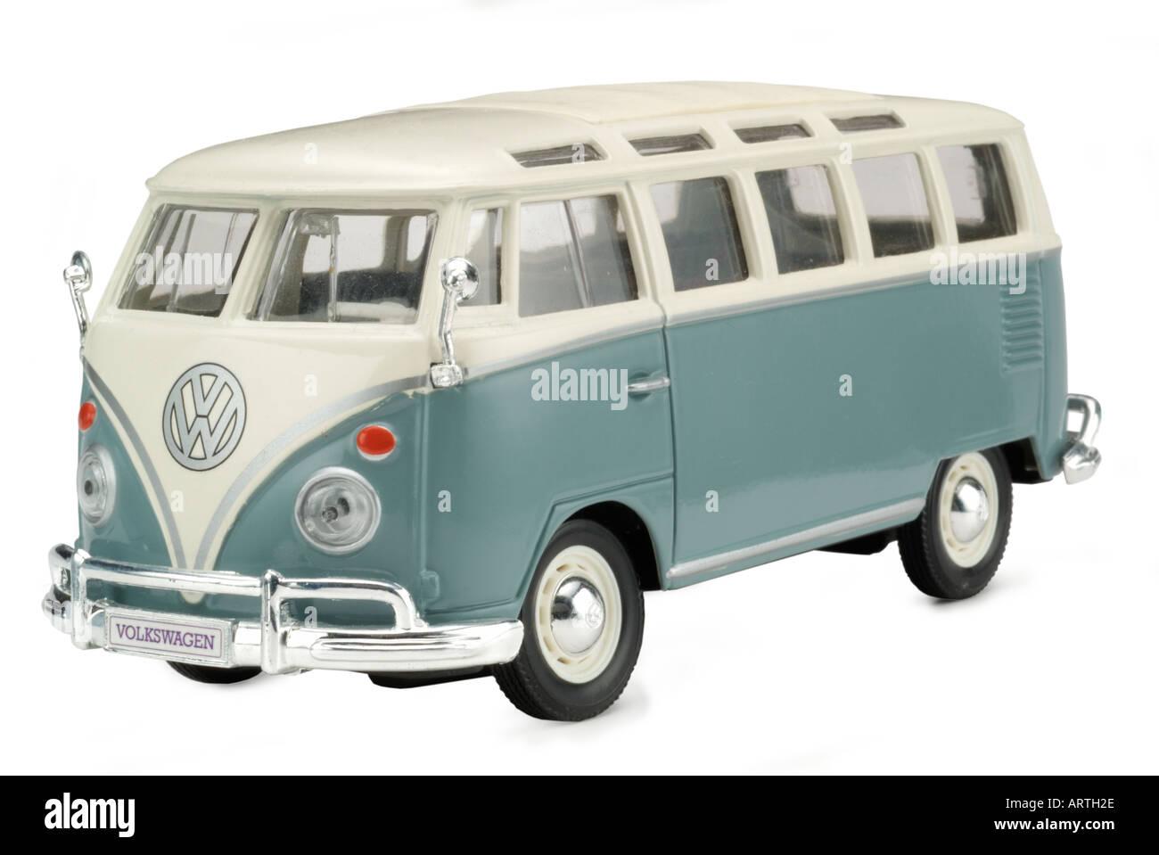 Vw camper van toy model - Stock Image