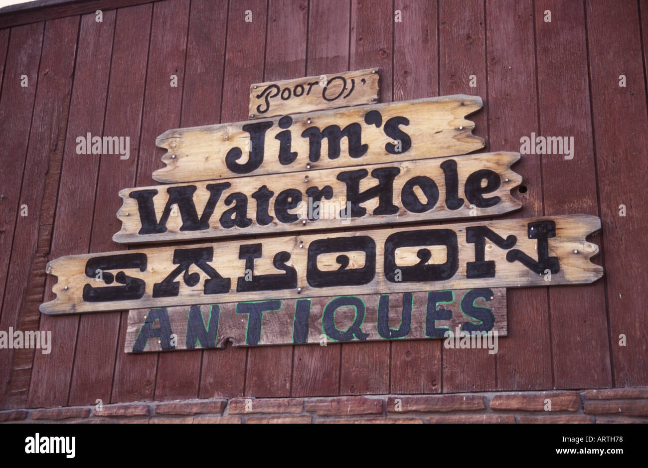 Saloon sign Montana - Stock Image