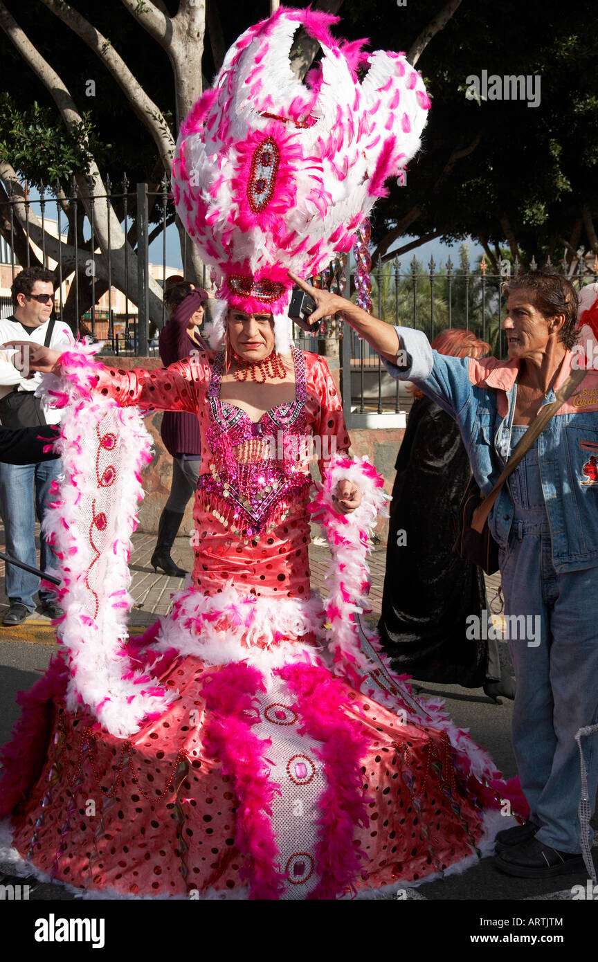 Drag Queen At Carnival On Gran Canaria In The Canary Islands Stock Photo Alamy