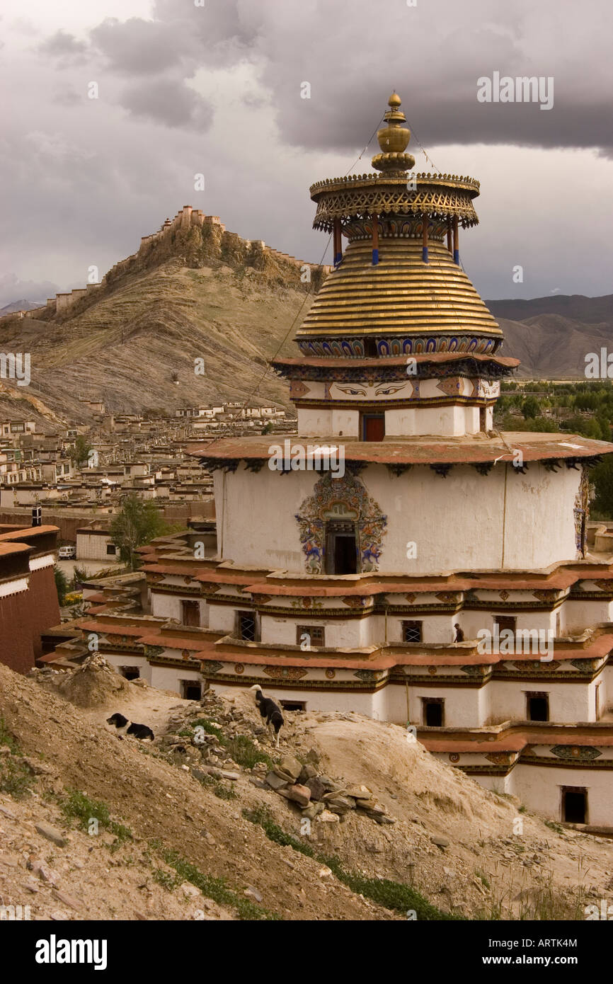 Kumbum Stupa, Pelkhor Chode monastery, Gyantse, Tibet - Stock Image