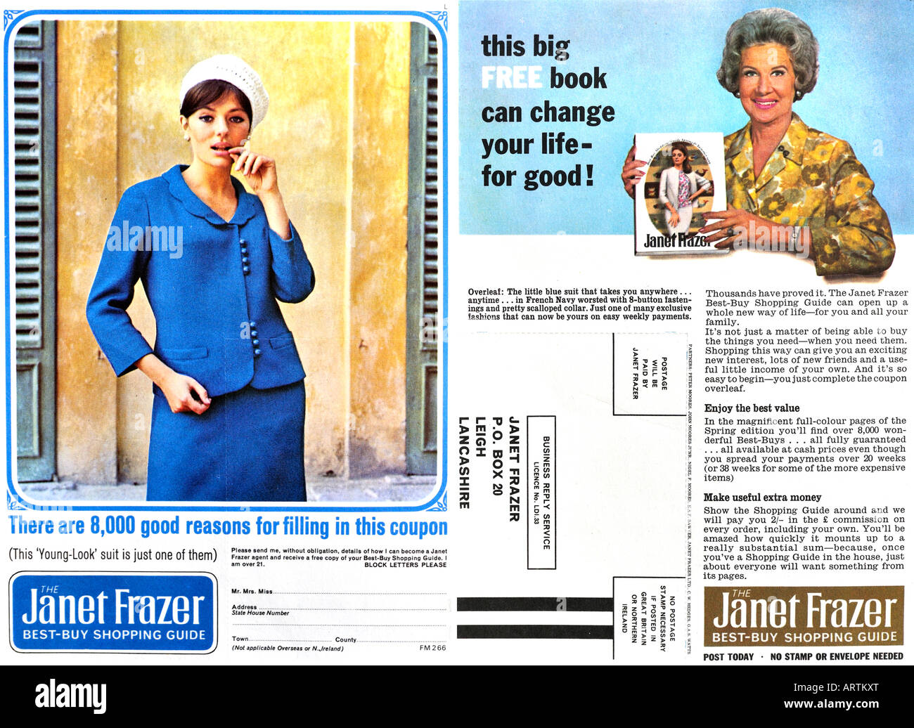 1960s advertisement 1966 Janet Frazer Mail Order Catalogue and