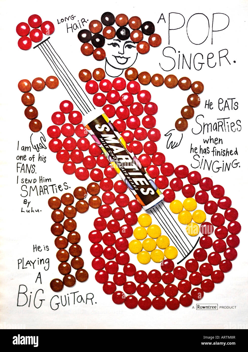 1960s Smarties by Rowntree advertisement FOR EDITORIAL USE ONLY - Stock Image