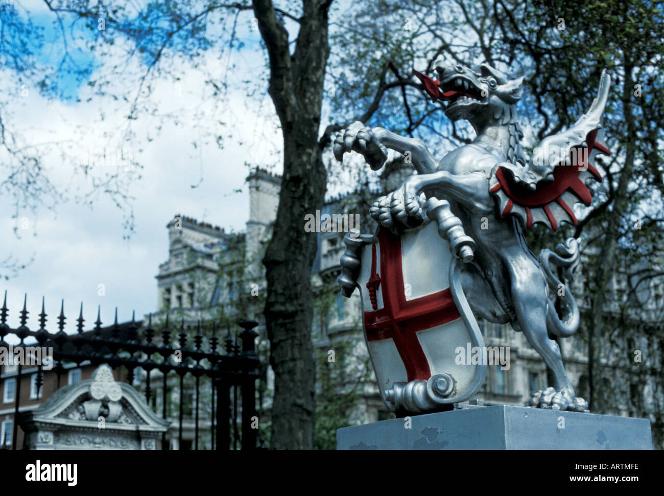 City of London Griffin and Shield emblem - Stock Image