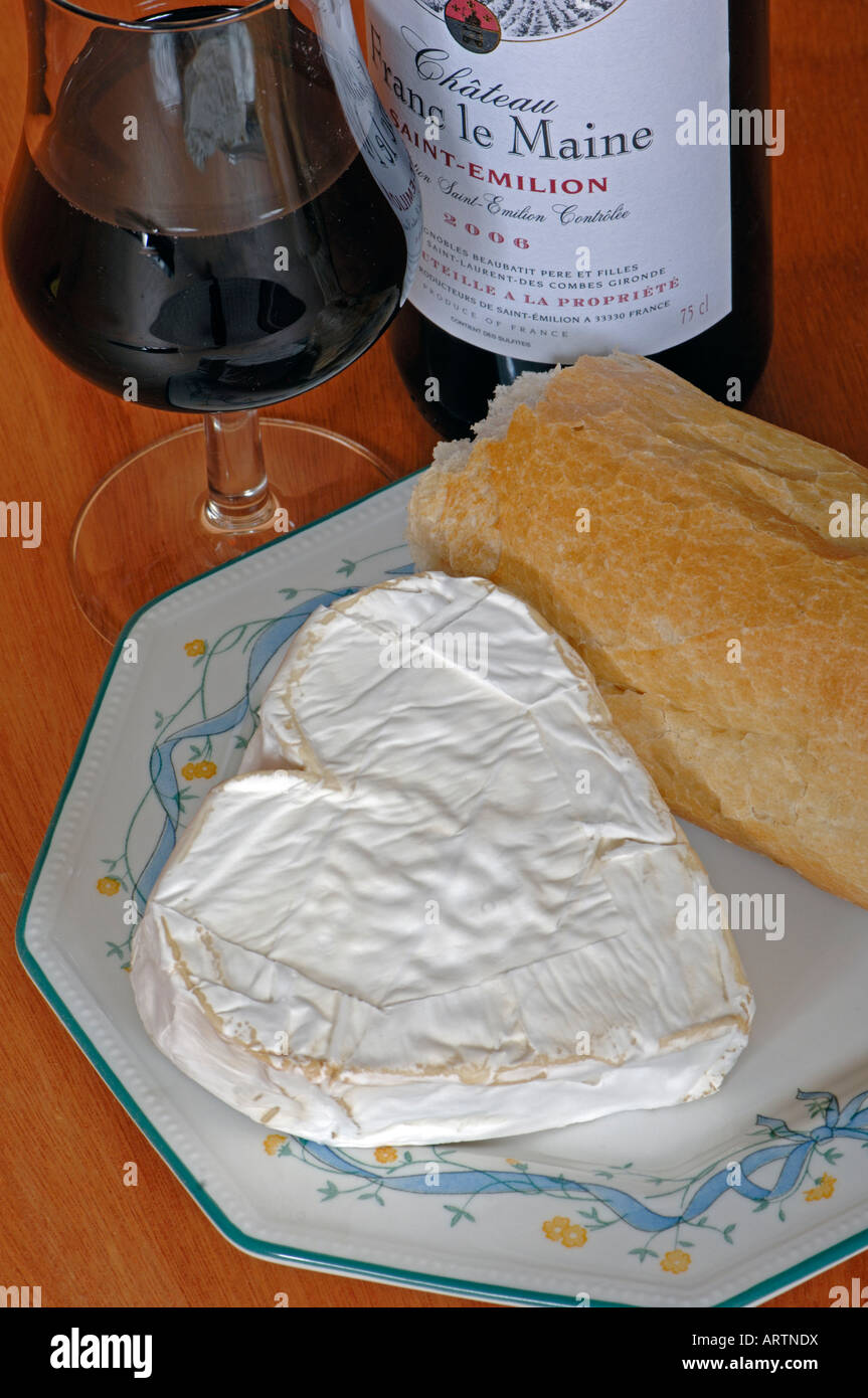 Neufchatel cheese made in Normandy, France - Stock Image